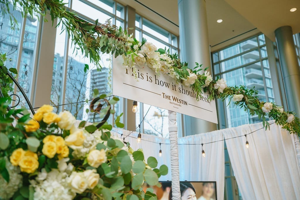 Wedding Fair Booth Designs: WedLuxe Magazine and the Westin Bayshore Vancouver